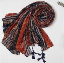 цена на Vintage ethnic style Fringed scarf fashion color Flower print seaside holiday travel beach towel shawl
