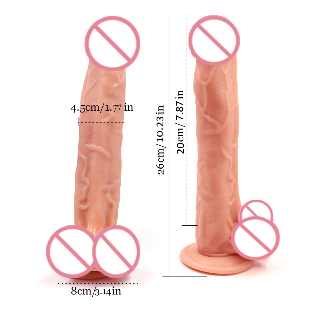 Sex Shop Super Huge Dildos 26*4.5cm Artificial Male penis Dick with strong Suction Cup simulate Woman Masturbator Adult Sex Toy 5colors super huge simulate artificial dildos female masturbator penis dick horse dildo flexible with suction cup women sex toys
