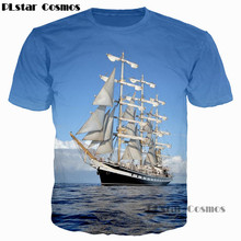 PLstar Cosmos 2018 New Men/Women 3D T Shirt Waves Of the Sea Water/Boat/ Bottle Anchor /Great Wall Print T-Shirt Casual Tee Tops the great wide sea