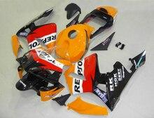 Литья под давлением Топ продаж обтекатели для Honda CBR600RR 03 04 оранжевый черный кузов части обтекатель комплект для CBR600RR 2003 2004 LY59