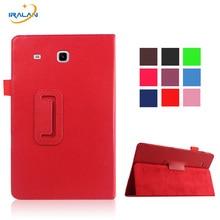 Cuero de LA PU shell protector caso Del Soporte Del Tirón Para Samsung Galaxy Tab 3 Lite 7.0 T110 T111 T113 T116 libro de negocios tablet cover + pen