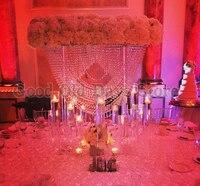 80 см высокий хрустальный цветок таблице центральным стенд Свадебные украшения