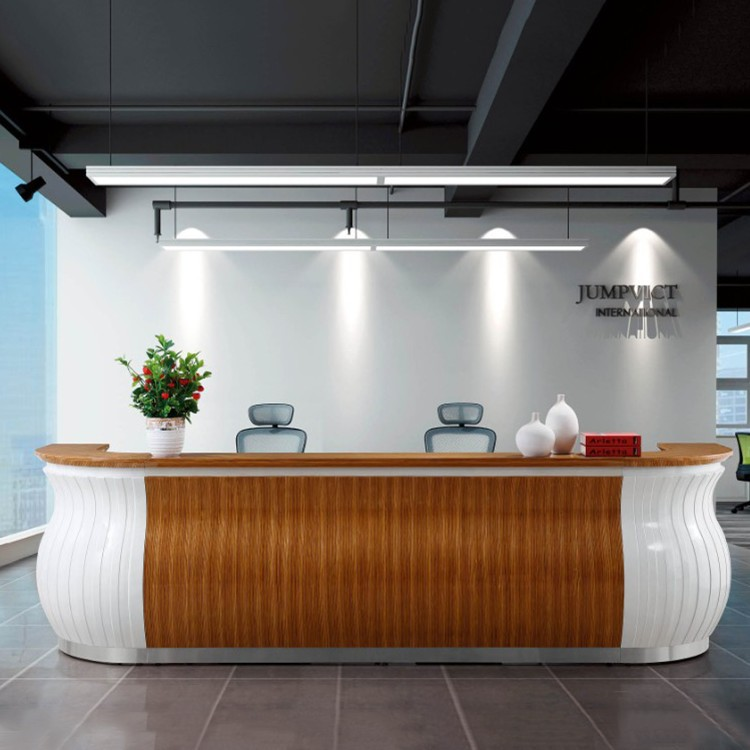 2016 New Design Office Reception Desk Table For Big Space Office 3628