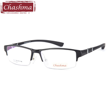 Prescription Sport Style Men Eyeglass Aluminum Magnesium Frame TR 90 Arms Fashion Semi Rimmed Spectacles for Width 144