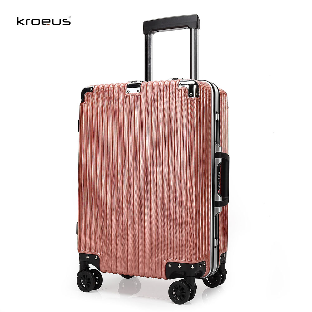Kroeus Luggage Suitcase ABS Carry On Spinner Wheels TSA Lock luggage
