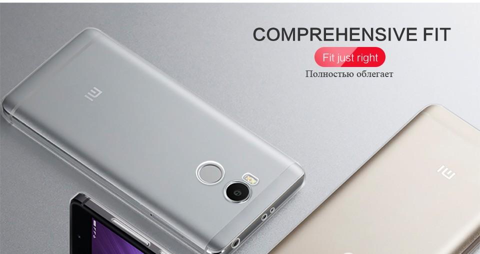 Pzoz xiaomi redmi 4 case silikonowy pokrowiec oryginalny xiaomi redmi 4 pro slim przejrzystą ochronę soft shell 4x redmi redmi 4A 7