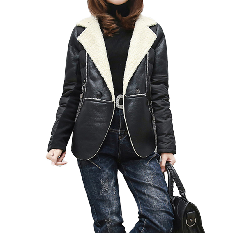 2018 New Fashion Women Spring Autumn Soft Faux   Leather   Jackets Lady Motorcycle Biker Coats Black Outerwear NW1085