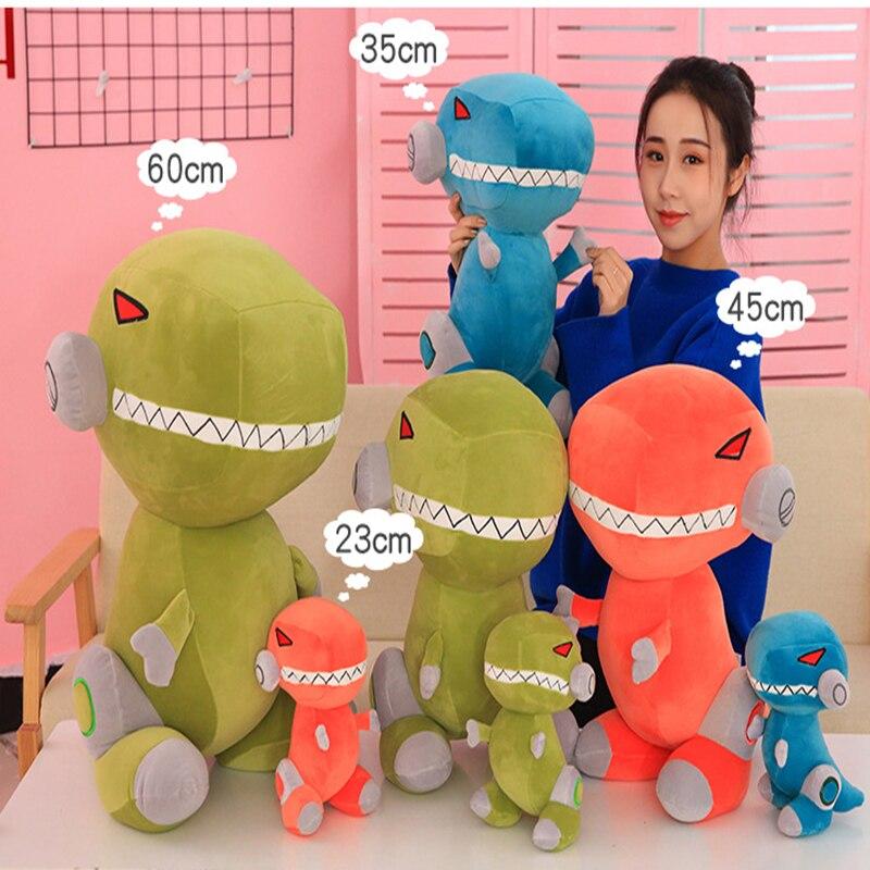 Mechanics Tyrannosaurus Rex Dolls Toy Dinosaur Plush Toy Stuffed Toys Soft Animal Dolls Chirstmas Kid Gift