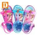 Flache Mit PVC Mädchen Sandalen Kinder Mode Prinzessin Partei Schuhe Sommer Kleinkind Elsa Schuhe Chaussure Enfants Fille Alias-in Sandalen aus Mutter und Kind bei