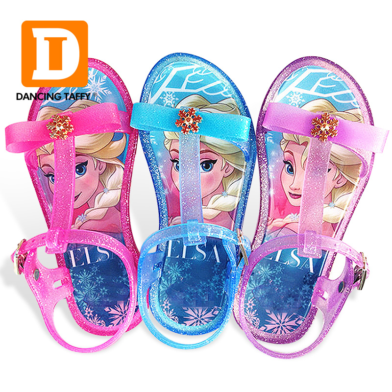 Flat With PVC Girls Sandals Children Fashion Princess Party Shoes Summer Toddler Elsa Shoes Chaussure Enfants Fille Sandalias
