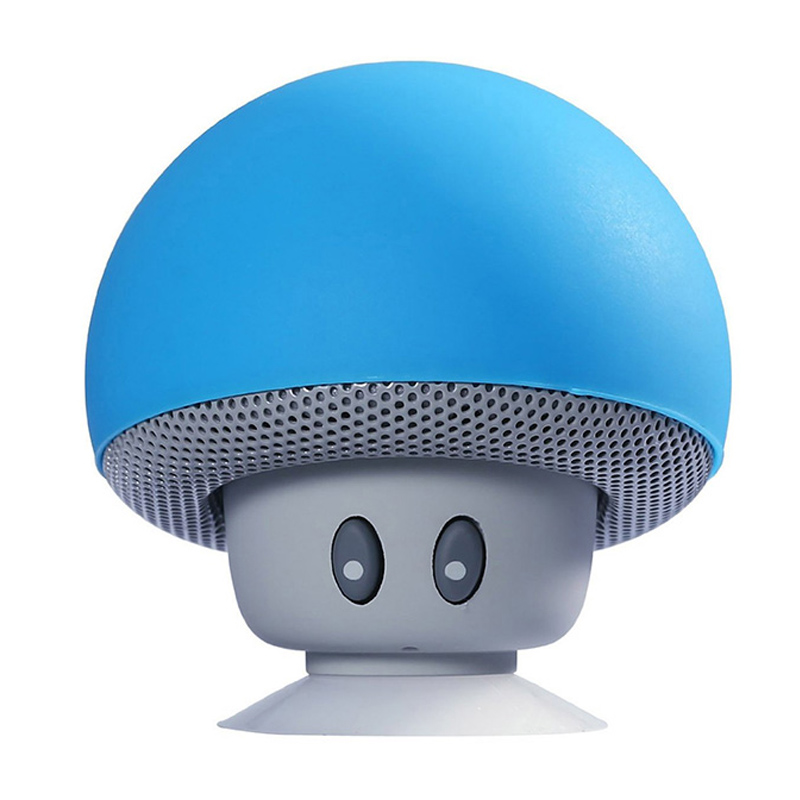 Wireless Bluetooth Speaker Heavy Bass Stereo Music Player Portable Mini Mushroom Speaker Cute Loudspeaker Suction Cup Subwoofer cd проигрыватель other ems ru bluetooth mic bluetooth mushroom speaker