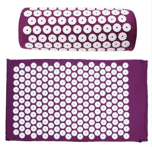 Acupressure Massage Pillow Cushion Spike Mat Head Massager Stress Pain Relief Yoga Pad for Back Foot Treatment Body Relaxation