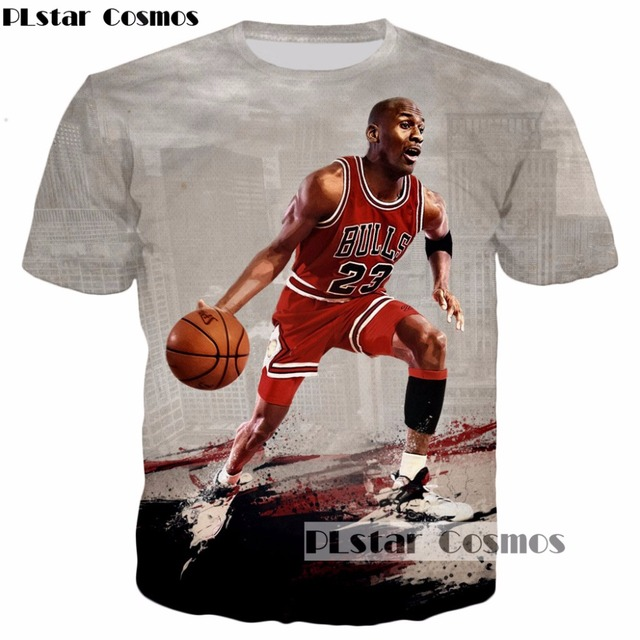de2d704e0180 PLstar Cosmos 2017 summer new design Michael Jordan Fashion 3d t-shirt  character print Men Women Harajuku Tee shirts