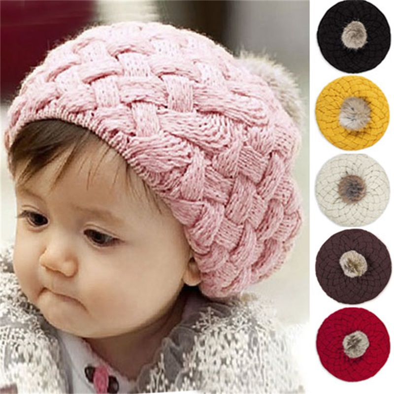 2018 New Fashion Cute Winter Baby Hat for kid Toddler Knitted Crochet Beanie Hat Cap Beret Warm Baby Cap boys girls for child