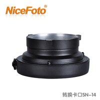NiceFoto conversion card flash light card sn 14 flash exchange mount bowen to Elinchrom