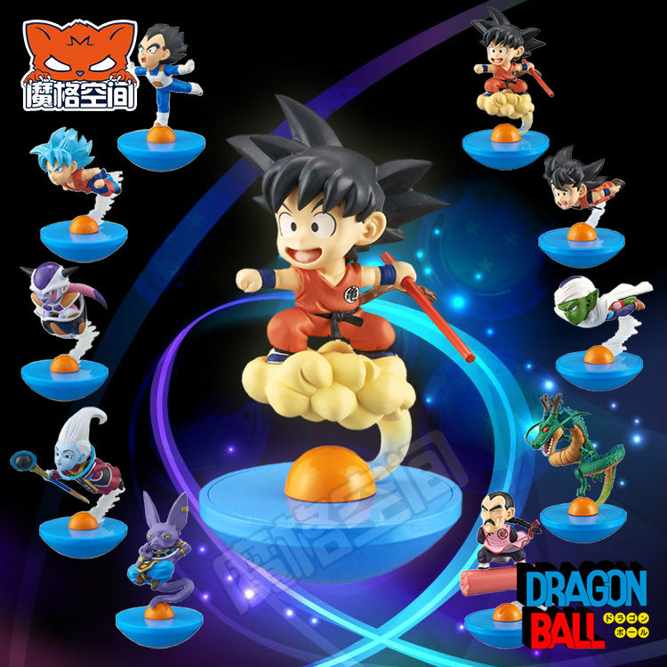Dragon Ball Z Battle Of Gods Figures Super Saiyan God Son Goku,Gohan,Vegeta ,Beerus PVC Action Tumbler Figure Doll Model Toys  new goku 14cm vegeta goku trunks dragon ball z resurrection f super saiyan god comics pvc action figures toy for kids