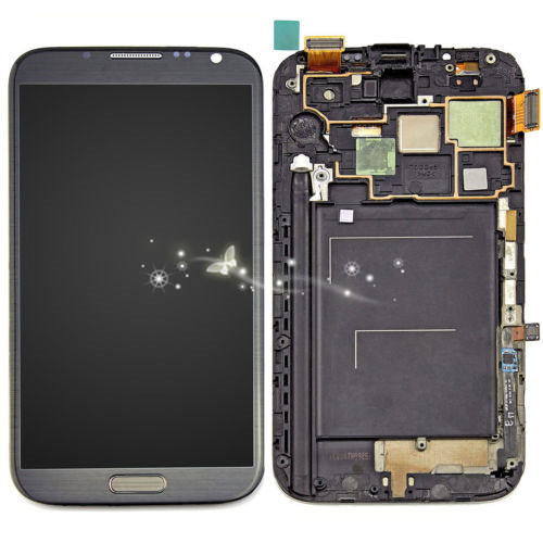 A Replacement LCD Touch Screen Digitizer For Samsung Galaxy Note 2 N7100 T889 i317 N7105 with frame free shipping