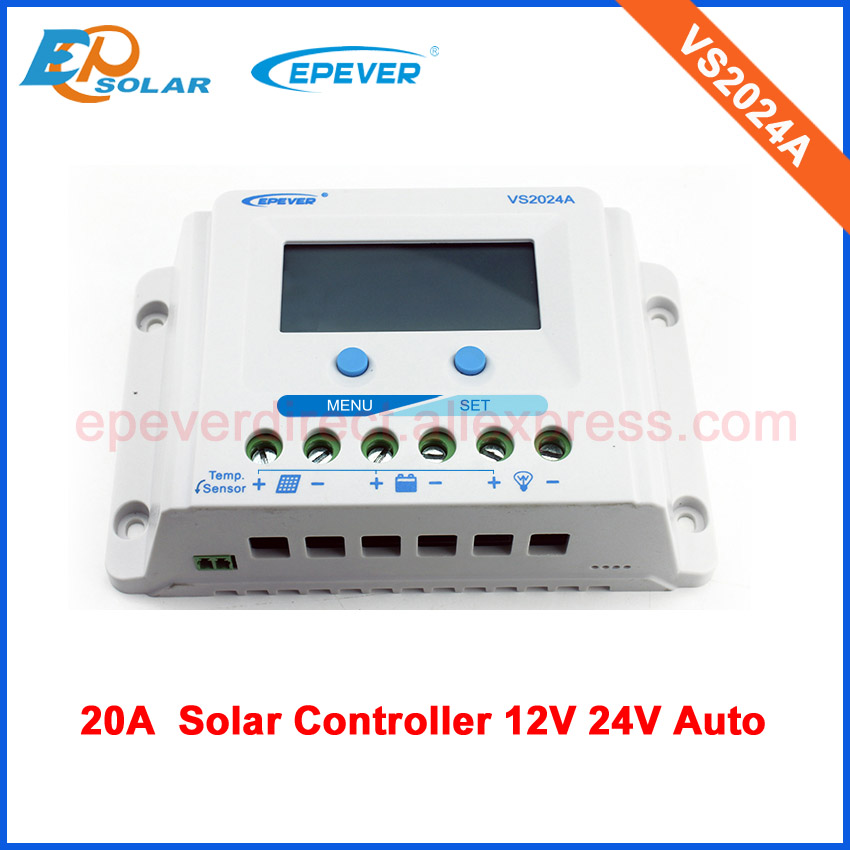 EPEVER PWM 12v 24v auto work VS2024A solar power regulator 20a 20amp lcd display цены