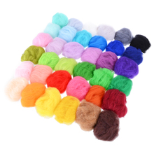 New 36 Colors 3g Non-repetitive Felting Wool Fiber Felt Starter DIY Kit For Needle Dry Sewing