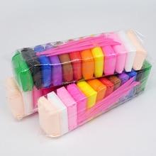 Светильник из глины, сухой на воздухе полимерный пластилин, пластилин для моделирования, супер светильник, сделай сам, мягкая креативная резинка на руку, образовательная глина, игрушки, 12 цветов/набор