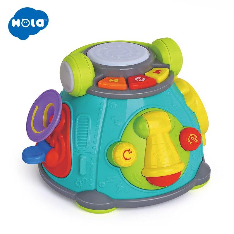 HOLA 3119 bebé música tambor juguetes aprendizaje desarrollo teclado Musical Piano Aprendizaje Temprano juguetes educativos para niños