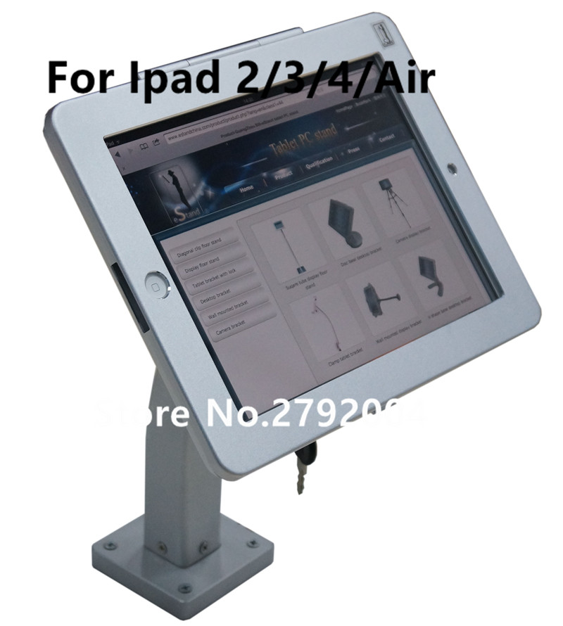 dispositivo anti roubo ipad2 3 4 com caixa de metal lockable e chave titular de seguranca