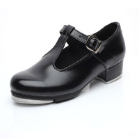 Women Girl's Tap Dance Shoes Patent PU Leather Kids Children Step Dance Shoes Teacher Stage Shoes Size 26 42 Heel 3cm VA30