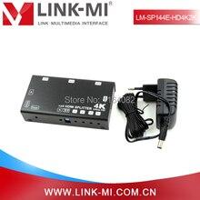 LINK-MI LM-SP144E-HD4K2K HDMI 2.0 4-Port HDMI Splitter Supports 4Kx2K@60Hz, HDCP, EDID