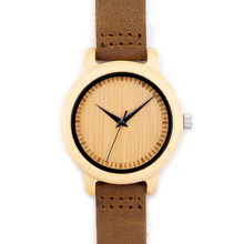 Hot Selling Japanese MIYOTA Movement Wristwatch Genuine Leather Bamboo Wooden Watches For Men And Women Bracelet