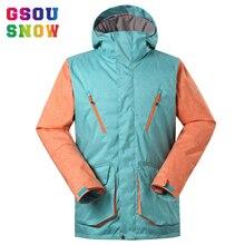 GSOU SNOW Brand Men Ski Jackets Windproof Waterproof Snowboard Jacket Men Outdoor Warmth Winter Clothing Breathable Sportswear