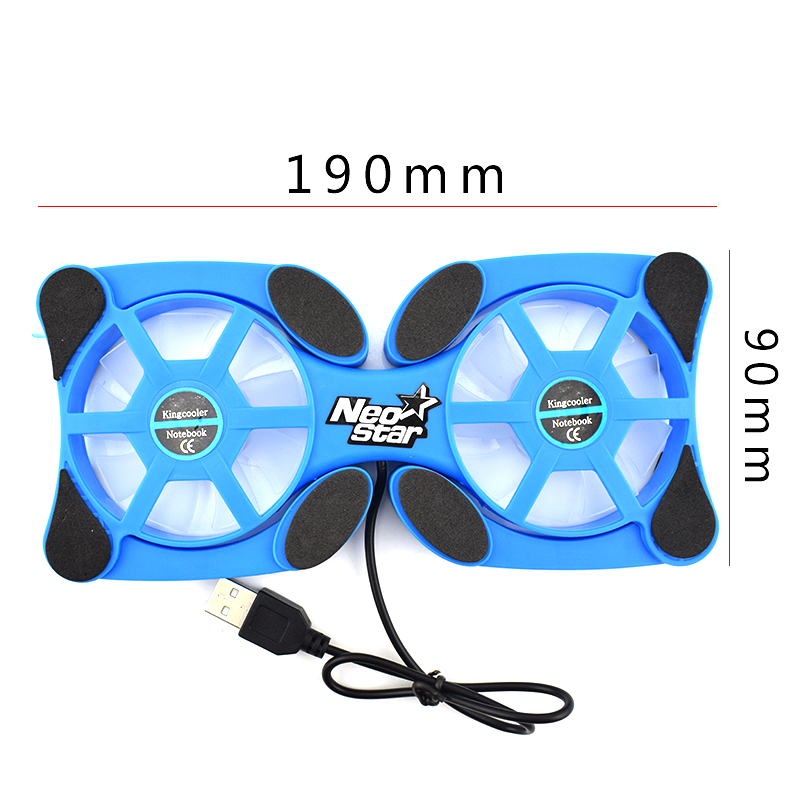Image 5 - Foldable USB Laptop Cooling Pads With Double Fans Mini Octopus Notebook Cooler Cooling Pad For 7 15 Inch Notebook Laptop-in Laptop Cooling Pads from Computer & Office