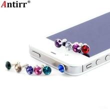 5pcs Rhinestone Bling diamond Universal 3.5 mm Dust Plug Cell Phone Earphone Anti Dust Protect Dustproof 3.5mm Jack Stopper