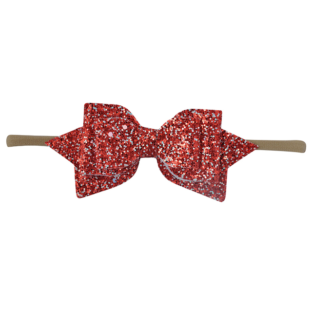 Baby Girl Glitter Bow Headband