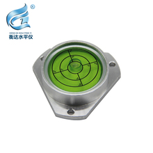 High Accuracy Alloy Shell 48MM Precision Round Bullseye Spirit Bubble Level Surface Circular Measuring Bulls Eyes