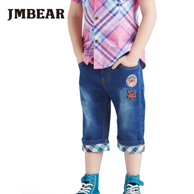 JMBEAR boys jeans summer new calf-length pants for kids casual clothing leisure shorts for children spring