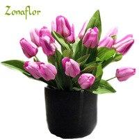 Zonaflor 2018 9 голову Шелковый Тюльпан Высокое качество искусственные цветы Букеты Свадебные украшения для дома Свадебные Декоративные цветы