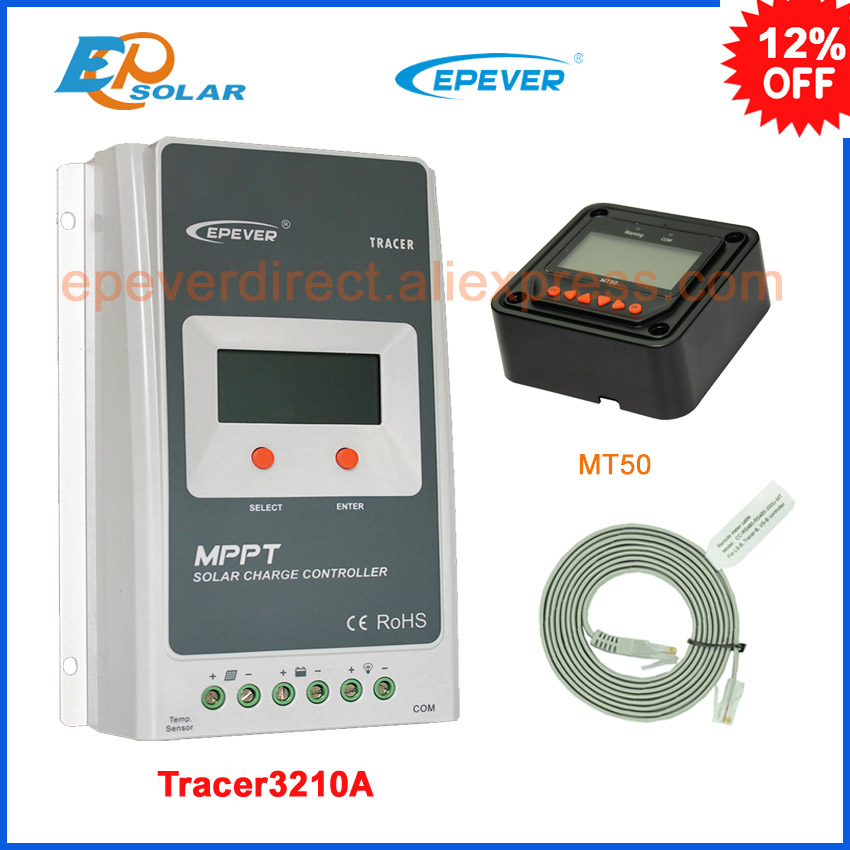 EPsolar Tracer 3210A EPsloar 30A MPPT Solar Charge Controller 12V 24V LCD Diaplay EPEVER Regulator with MT50 Meter epsolar tracer mppt 20a 2215bn solar charge controller solar tracker controller for renewable energy system