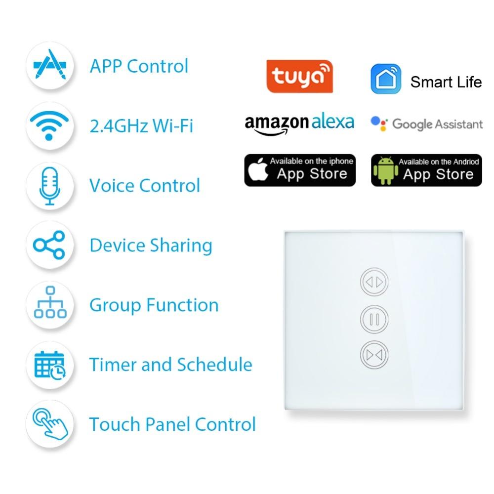 anerkannte Marken heißester Verkauf Veröffentlichungsdatum: US $14.23 48% OFF|Tuya Smart Leben WiFi Vorhang Schalter für Elektrische  Motorisierte Vorhang Blind Rollladen, Google Hause, amazon Alexa Voice ...