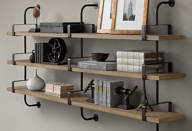 wood wall shelving closet wrought iron shelves word separator shelf bracket support frame decorated living roomin brackets from home improvement on