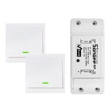 جهاز إرسال ذكي يعمل بالواي فاي يعمل بتردد 433 ميجاهرتز 10A/2200 واط لوحة مفاتيح 86 نوع تشغيل/إيقاف لوحة مفاتيح 433 ميجاهرتز RF واي فاي جهاز إرسال للتحكم عن بعد