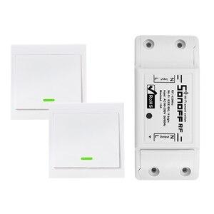 Image 1 - Smart RF Wifi Switch RF 433MHz 10A/2200W Wireless Switch 86 Type ON/Off Switch Panel 433MHz RF WiFi Remote Control Transmitter