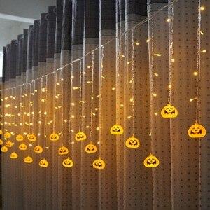 Image 3 - Feimefeiyou 3.5m 96 נוריות clampada led דלעת פיות אורות LED וילון מחרוזת אורות מקורה מסיבת דקור led רצועת