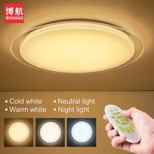 Eye-protección LED Lámpara de Techo moderna Inteligente de Control Remoto 2.4G RF Remoto Dimming Inicio de Techo Sala de estar Dormitorio luces Fixtu