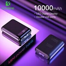 FLOVEME mi ni banco de energía 10000mAh para Xiaomi mi Powerbank Pover cargador de Banco Dual puertos Usb batería externa Poverbank portátil