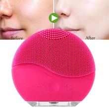 Уход за кожей Электрический Очищающая щетка для лица Вибрационный массаж Водостойкий силиконовый щётка для умывания лица для лица treatmeat beauty care