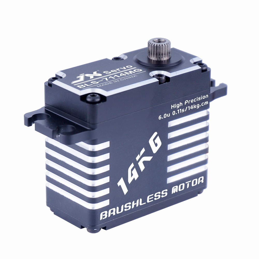 Superior Hobby Jx BLS-7114MG 14KG High Precision Steel Gear Full CNC Aluminium Shell Structure Digital Brushless Standard Servo superior hobby jx pdi 6208mg 8kg high precision metal gear digital standard servo
