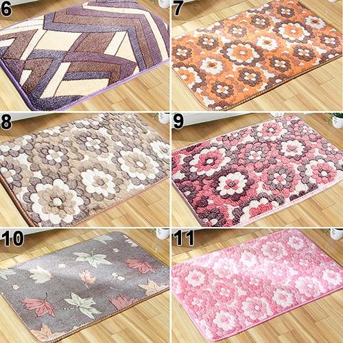 Flower Puzzle Maple Leaf Pattern Bedroom Home Office Bath Rug Carpet Door Mat