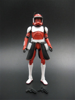 3.75'' Figures action anime version Star War COMMANDER FOX CW18 Coruscant Guard Red Clone Trooper Free shipping S014