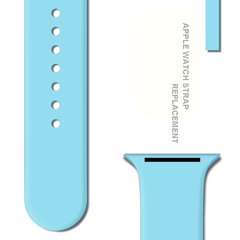 Sport Silicone Strap For Apple Watch band Case 38mm 42mm 40mm 44mm for iwatch series 4 3 2 1 soft silicone strap replacement in Watchbands from Watches