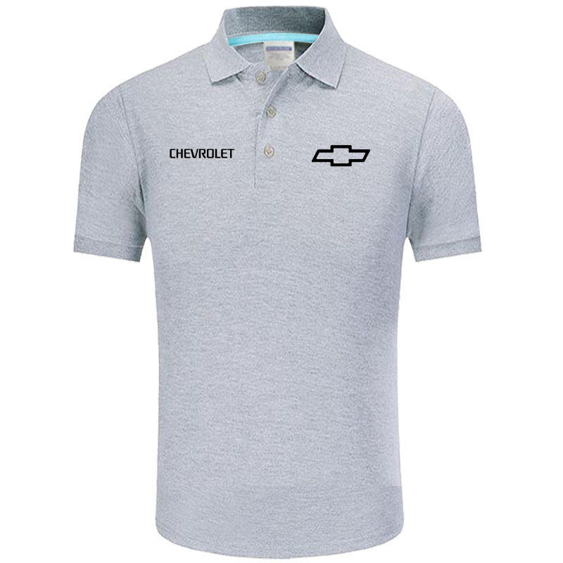 Summer   Polo   Shirt Chevrolet logo Brand Men's Fashion Cotton Short Sleeve   Polo   Shirts Solid Jersey Tops Tees